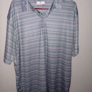 Grand Slam Performance Polo Shirt Gray/Green